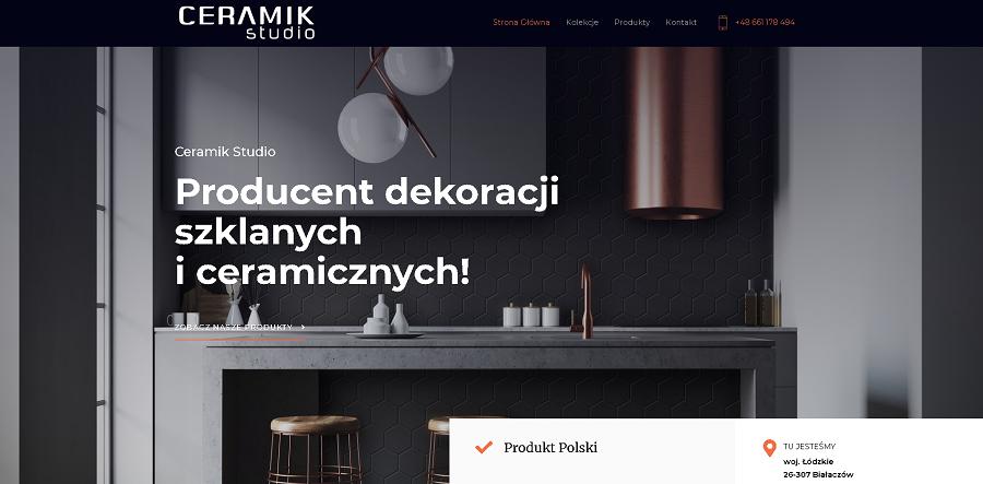 Strona internetowa stworzona dla Ceramik Studio